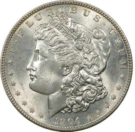 silver dollar value 1904 morgan silver dollar values and prices past sales coinvalues com