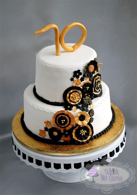 black gold ruffled flower cake cakecentralcom