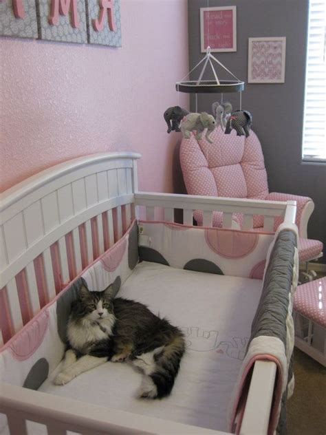 grey pink baby elephant crib mobile so pink and