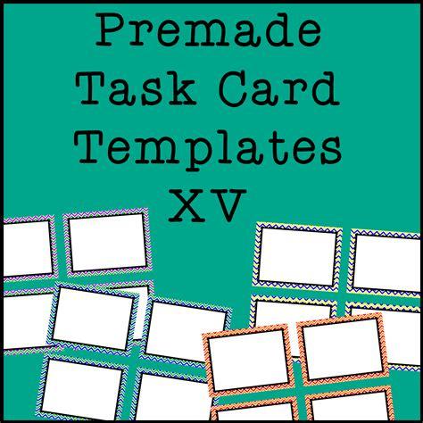 task card frames  borders  template chevron