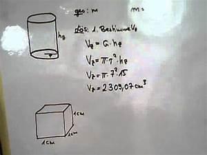 Norm Eines Vektors Berechnen : masse eines zylinders youtube ~ Themetempest.com Abrechnung