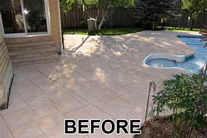 Painting concrete patio stencil design and ideas for Concrete patio paint before and after