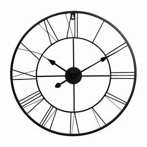 Wanduhr Römische Ziffern : xxl wanduhr metall r mische ziffern 60 cm bahnhofsuhr metalluhr ebay ~ Watch28wear.com Haus und Dekorationen