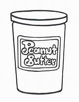 Coloring Jar Pages Butter Peanut Binks Printable Pdf Getcolorings sketch template