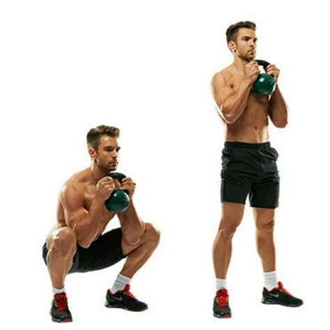 goblet squat kettlebell exercises squats exercise workout body step target core skimble intense give which description