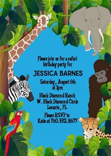 king   jungle safari baby shower invitations