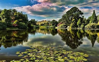 Garden Lake Desktop Nature Widescreen Definition Water