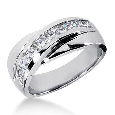 platinum men s diamond wedding band 1ct diamond unique