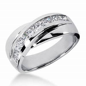 platinum men39s diamond wedding band 1ct diamond unique With unique platinum wedding rings