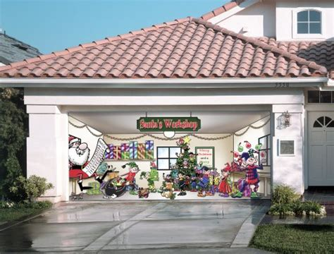 santas workshop outdoor christmas holiday garage door