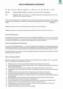 sales commission contract example templates at With sales commision agreement template