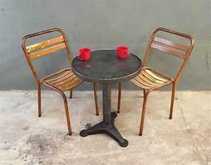 Chaise Metal Tolix : paire chaises bistrot m tal style tolix ~ Teatrodelosmanantiales.com Idées de Décoration