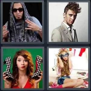 4 pics 1 word all level 401 to 500 6 letters answers 4 pics 1 word answer for rapper model fashion dress up 67876