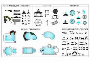 Garden / Landscape design CAD collection - CADblocksfree