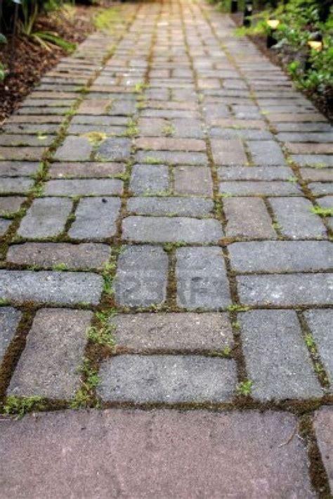 brick design with grass for patio exterior