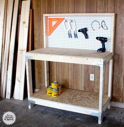 Work Bench Kits by Diy Workbench With Strong Tie Workbench Kit