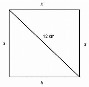 Flächeninhalt Quadrat Seitenlänge Berechnen : quadrat satz des pythagoras diagonale im quadrat ist 12cm seitenl ngen berechnen mathelounge ~ Themetempest.com Abrechnung
