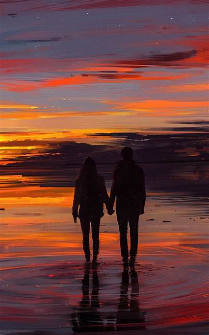 Sunset Couple Resolution Wallpapers Published August