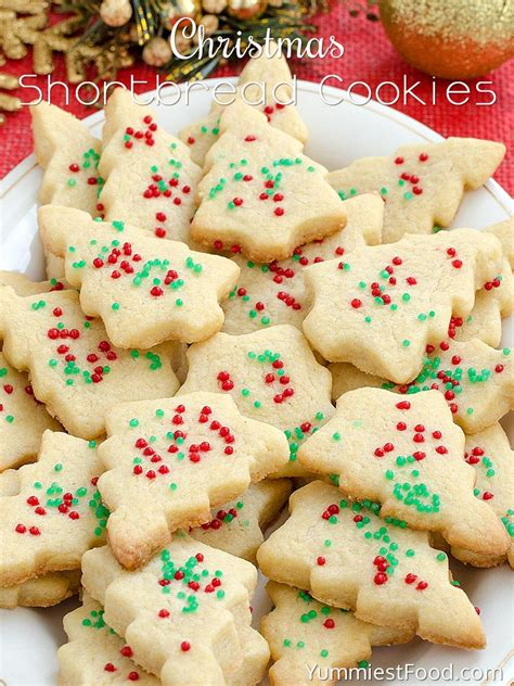 shortbread cookies christmas recipe cookie recipes xmas food decorating easy cookbook biscuits delicious holiday tasty simple ingredients sugar yummiestfood yummiest