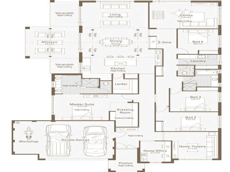 home office floor plans 5 bedroom modular home plans floor home house plans with