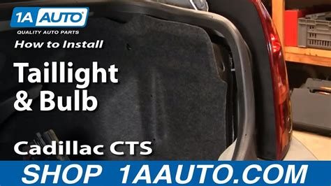How Replace Taillight Bulb Cadillac Cts Youtube