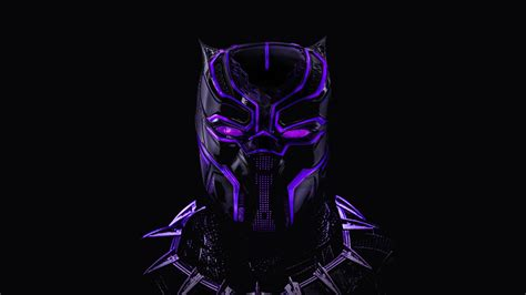 Wallpaper Black Panther, Neon, Artwork, 5k, Creative