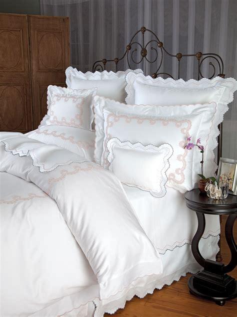 crown lace luxury bedding italian bed linens schweitzer linen