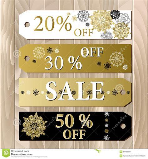 big sale printable card template  golden snowflakes