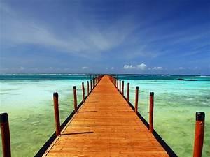 Fond Ecran Mer : fond d 39 ecran ponton mer turquoise vue mer fond decran ~ Farleysfitness.com Idées de Décoration