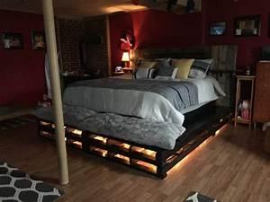 tete de lit en palette 15 modeles et astuces pour bien With tapis rouge avec tete de lit canapé