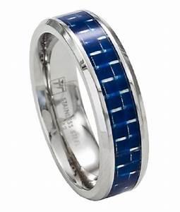 Stainless Steel Men39s Wedding Band Promise Ring WBlue
