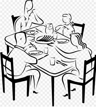 Dinner Eating Drawing Clipart Breakfast Clip Draw