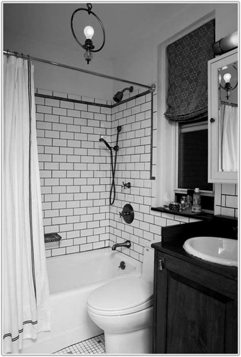White Subway Tile Bathroom Ideas by Home Design Black And White Subway Tile Bathroom Designs