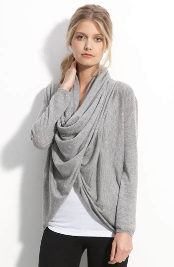 drape front cardigan shop this look cate blanchett s grey wool jacket