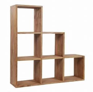 Etagere Escalier Bois : etag re meuble escalier sheesham naturel mobilier ~ Teatrodelosmanantiales.com Idées de Décoration
