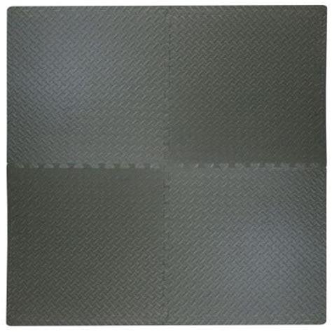 best step black plate 2 ft square interlocking
