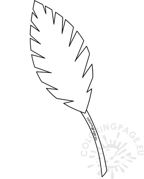 8.3 x 11.7 inches/210 x 297 mm (a4) original image: Tropical Leaves Coloring Pages at GetColorings.com | Free printable colorings pages to print and ...