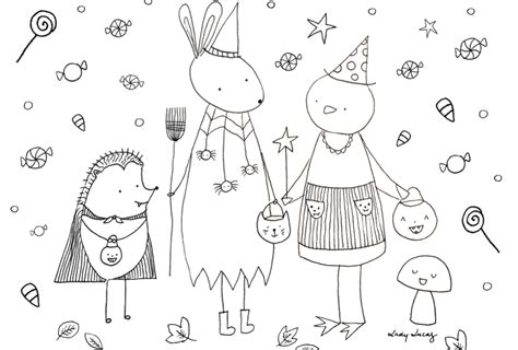 cute halloween coloring pages  print  color skip