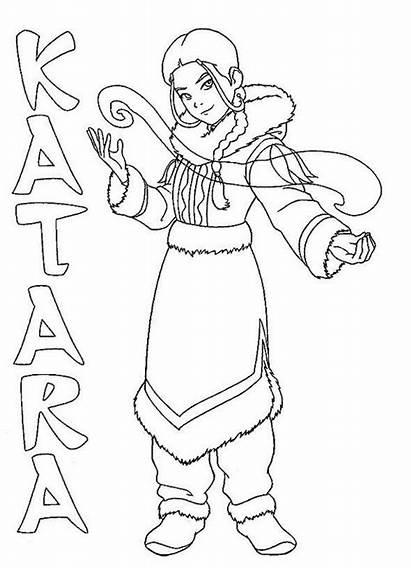 Last Coloring Avatar Airbender Earth Katara Sheets