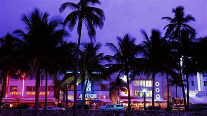 Vice Wallpapers Neon Beach Palm Theft Grand