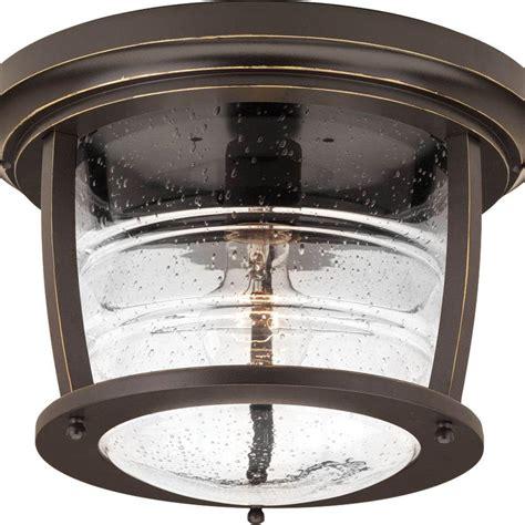 single bulb flush mount light progress lighting signal bay collection 1 light oil rubbed