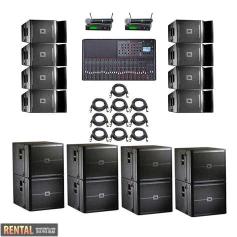 sound system jbl rent jbl vrx powered line array system 5 eventstarts