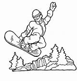 Snowboarding sketch template