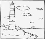 Lighthouse Coloring Printable Sheets Leuchtturm Drug Template Malvorlagen Sheet February Visitar Schablonen Ausmalen Schritt Fuer Popular sketch template