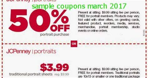 free printable coupons 2017 jcpenney coupons