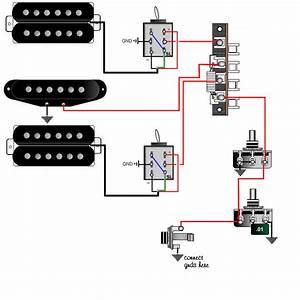 Tele Wiring Diagram 1 Single Coil Neck Humbucker