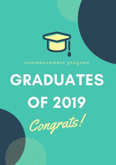 customize  graduation program templates  canva