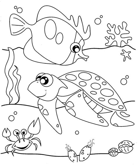 gambar untuk mewarnai anak tk tema binatang