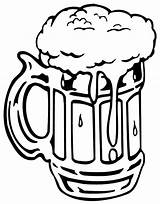 Beer Mug Coloring Pages Bottle Foaming Drawing Root Tocolor Clipart Printable Getcolorings Button Through Case sketch template