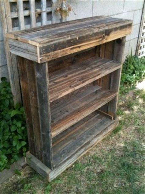 rustic barnwood dvd racktv standbook shelf full